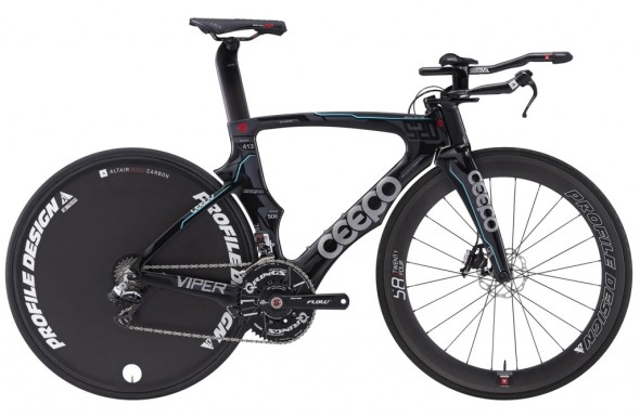 Ceepo Viper - TT frameset with disc brake and Di2 capability